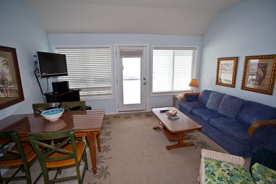 Living room with deck access