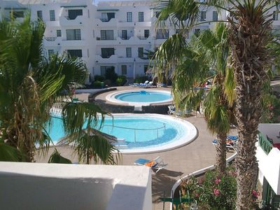 Photo for 1 bed apartment with sea views, sleeps 4 in central PDC. Lovely & quiet complex