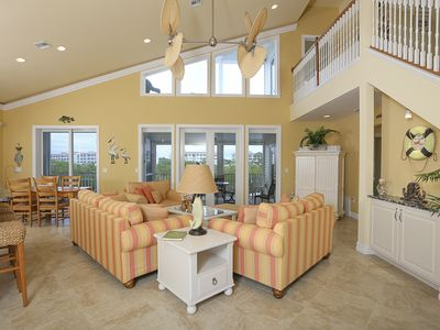 Photo for Luxury 3 Bedroom pool home close to beach, private dock on Kettle Harbor.
