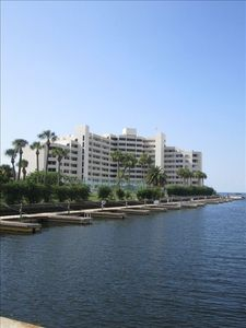 Gulf of Mexico waterfront property with available boat slips
