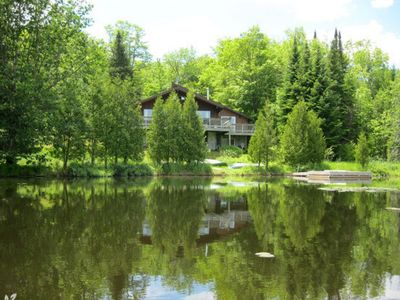 Photo for Morin Heights Beautiful Ski Chalet Lake Front - Available now