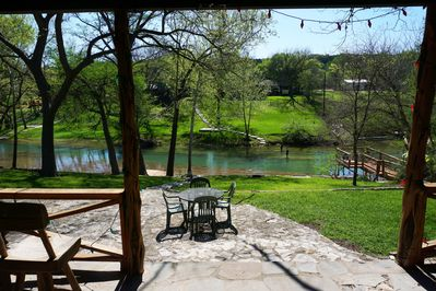 Guadalupe River Views from the covered patio