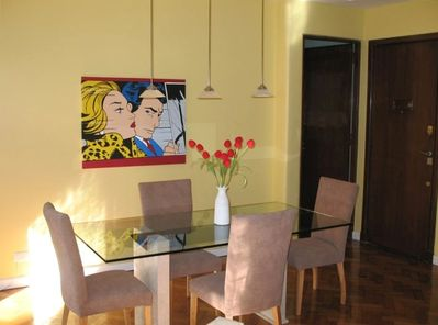 Elegant Dining Room has comfortable seating for six