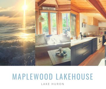 Photo for Maplewood Lakehouse: cozy modern lodge feel