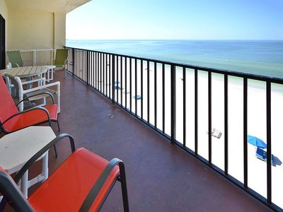 Photo for Lovely Las Brisas Gulf Front Condo w/ Free WiFi & Spacious Balcony