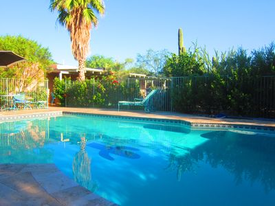 Photo for Charming home near U of A in magical garden 4 BR, 4BA, Jacuzzi & big pool & WIFI