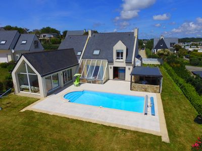Photo for Detached house with pool and sea view