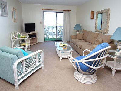 Photo for Marsh Villas 3L Second Row Condo with 2 Bedrooms In Cherry Grove Beach