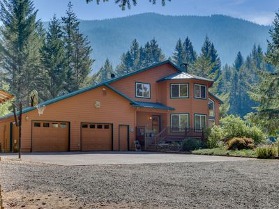 Photo for Sunny, riverfront home w/ private hot tub and beautiful views - dog-friendly!
