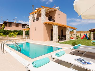 Photo for Maria villa in Roumeli village with private pool near the sea !!