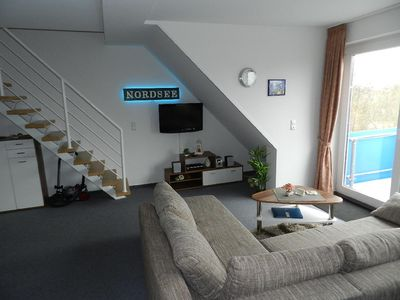 Photo for Modern furnished apartment on 2 levels 55 m², southwest facing balcony, 400 to the beach.