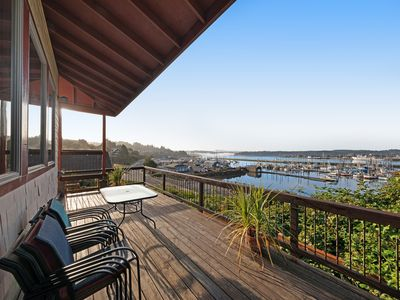 Photo for Best view in town! Renovated home w/ sauna - walk to the Bayfront - 1 dog OK!