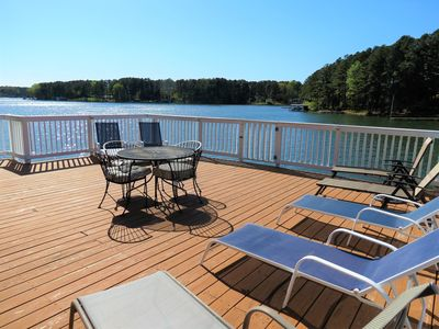 Photo for 7 Bedroom, Main Lake Cove, Sunset Views, Double Boathouse, Sandy Shore , Pets