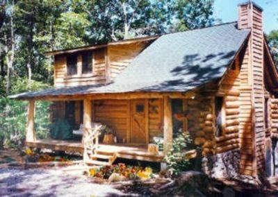 Photo for Handmade Log Cabin atop Small Mountain