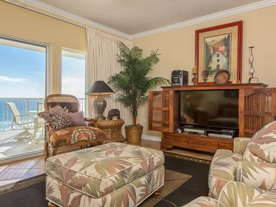 Photo for Comfortable Gulf-Front unit, Multiple on-site Pools, Minutes to Shopping and Dining