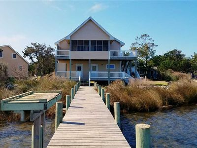 Photo for Casey's Creek:  Waterfront screened porch, decks, private dock.
