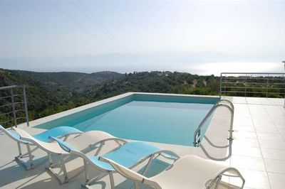 The villa pool with endless views