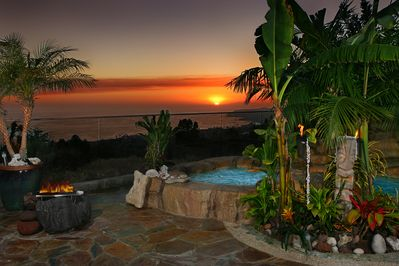Just before sunset of north coast view, spa is ready for your enjoyment