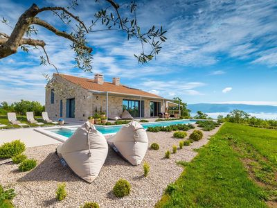 Photo for Modern designer villa with pool near Rabac