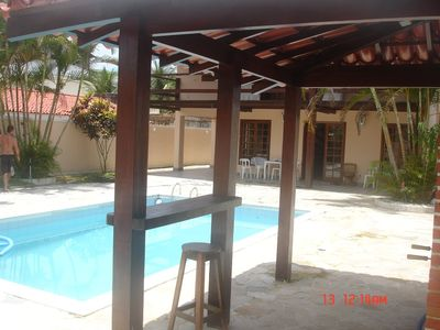 Photo for House 4 qtos, pool, barbecue, Wi-Fi - 150m / beach