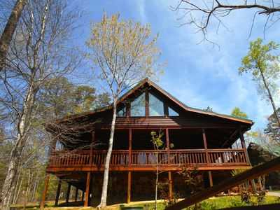 Photo for SMOKY COZY luxury cabin~GAME ROOM~POOL~WIFI~HOT TUB~FIRE PIT~Close to attraction
