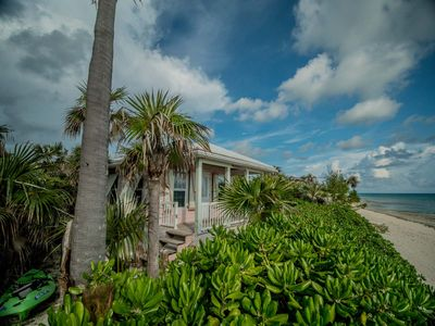 """Photo for The Pink Sand Cottage   """"Right on the Ocean!""""   High speed Internet..wifi"""