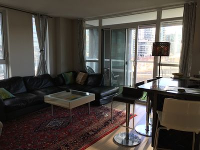 Modern 2 bedroom condo in great loaction- Fit for 4 or 5 -Free Parking -  Old Toronto