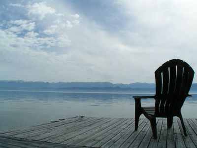 Photo for Cottage On Flathead Lake With Private Beach, Dock, Deck, and Yard