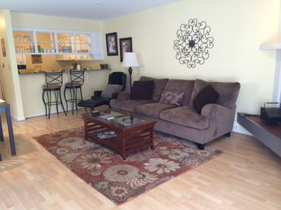 Living room with comfy couch