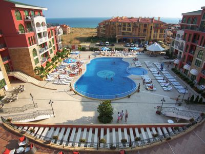 Photo for Saint George Palace - Sveti Vlas - Family apartment with pool view