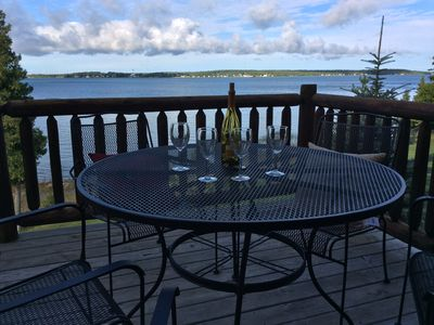 Photo for LUXURY LODGES! BEST VIEW ON THE ISLAND!    HOT TUB, DOCK, AND SANDY BEACH