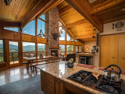 Photo for Ain't Life Grand Cabin, Grand Views, Hot Tub, Open Kitchen,10 Min to Boone!