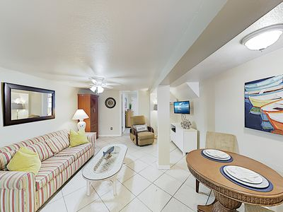 Photo for New Listing! Shoreside Condo w/ Fenced Patio - Walk to Waves, Dining & Shops