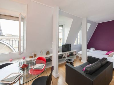 Photo for Superb studio with Eiffel Tower view!