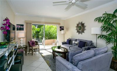 Photo for Fully relax in this comfy 2-bedroom, ground floor condo on the quiet side of Seven Mile Beach
