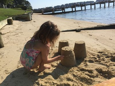 small beach area perfect for kids!