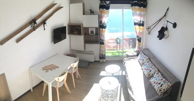 Photo for Alpe d'Huez-Eclose Est: Nice apartment renovated (2 rooms) South facing