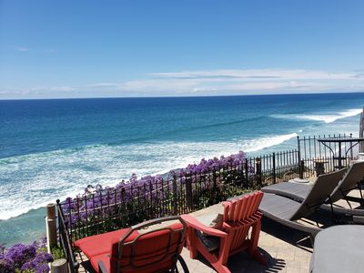 Photo for Beautiful Oceanfront Home, Gorgeous Views, jacuzzi, Deck and Patio! Best Value!