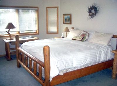 Master bedroom is spacious and cozy!