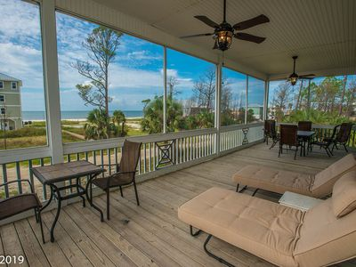 Photo for Gulf front home with spacious screened in porch.
