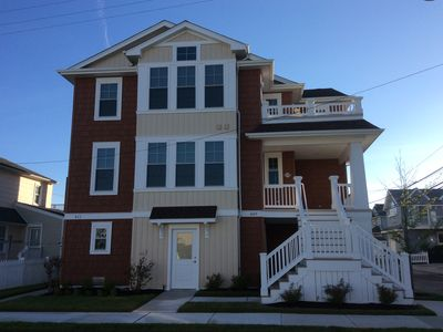 Photo for New 4 BDR / 2 Bath condo, 5 houses from Ocean City's Gold Coast beach