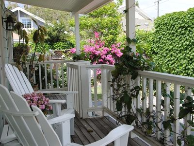 Photo for Downtown Quaint Cottage - 3 blocks to State St. restaurants & shops, lush private backyard!