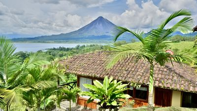 Photo for Gorgeous Cottage with Pool & Jacuzzi access & Spectacular Volcano & Lake views.
