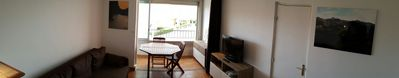 Photo for T2 sea view, residence Les Indes Galantes, 30m beach Mole, pool, box closed.