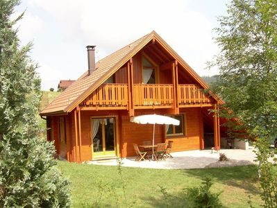 Photo for New stylish chalet made in wood in the mountain