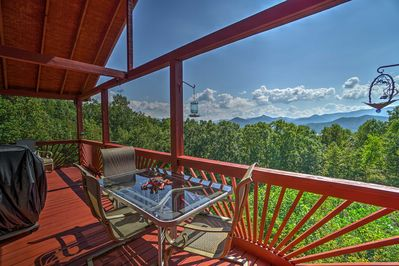 Escape to the gorgeous Georgia mountains by booking this 2-bed vacation rental!