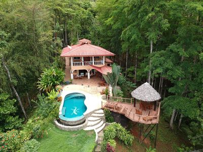 Photo for Casa Amistad Ocean View home with tropical forest