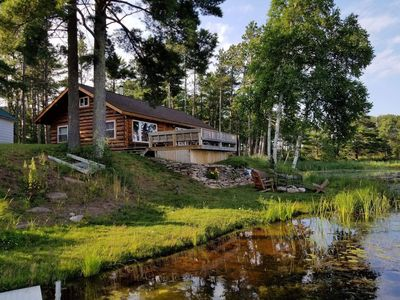 Beautiful, renovated cabin on Au Train RIver with Lake Superior across the road.