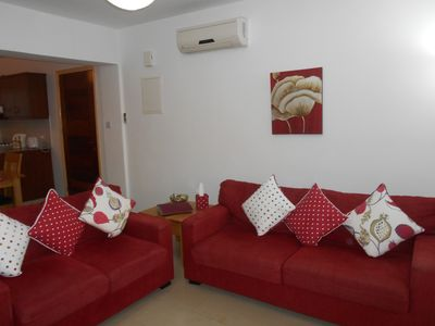 Relax in the comfortable living area with internet and internet streamed TV