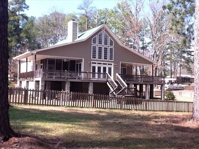 Photo for Gorgeous Lakefront Home W/ Private Dock..Best Home on the Lake